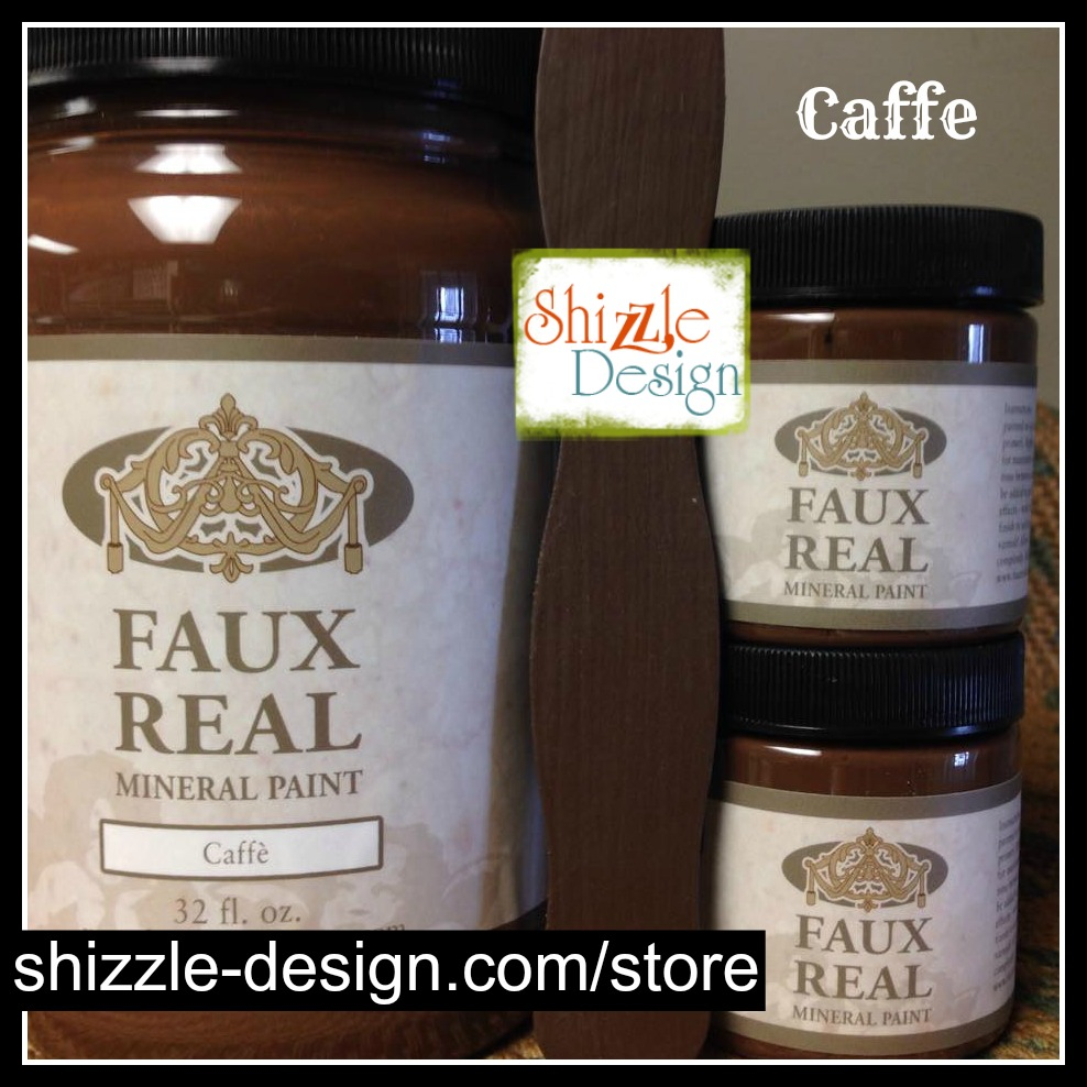 Caffe - Faux Real Mineral durable Paint Shizzle Design Michigan retailer pretty warm medium dark brown best chalk paint colors - Copy