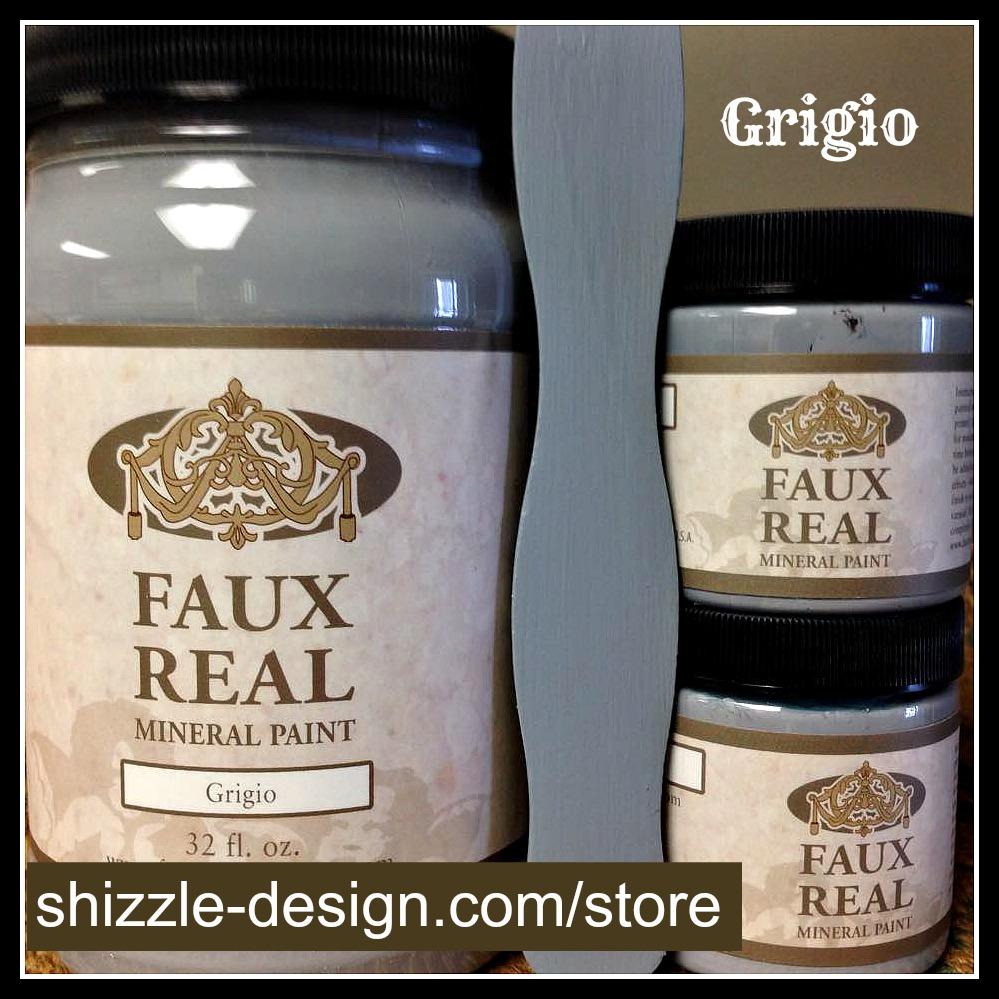 Grigio - Faux Real Mineral durable Paint Shizzle Design Michigan retailer gray blue best chalk paint colors