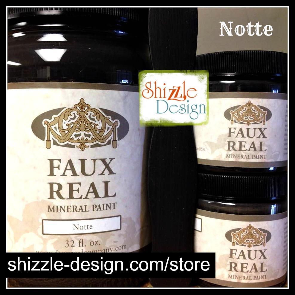 Notte - Faux Real Mineral durable Paint Shizzle Design Michigan retailer rich true black best chalk paint colors