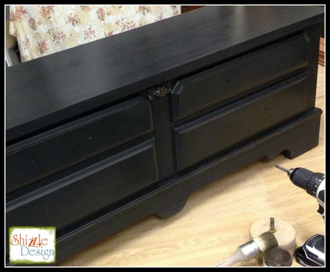 Old Town Paints True Black Lane Cedar chest hand painted furniture Shizzle Design grand rapids michigan best