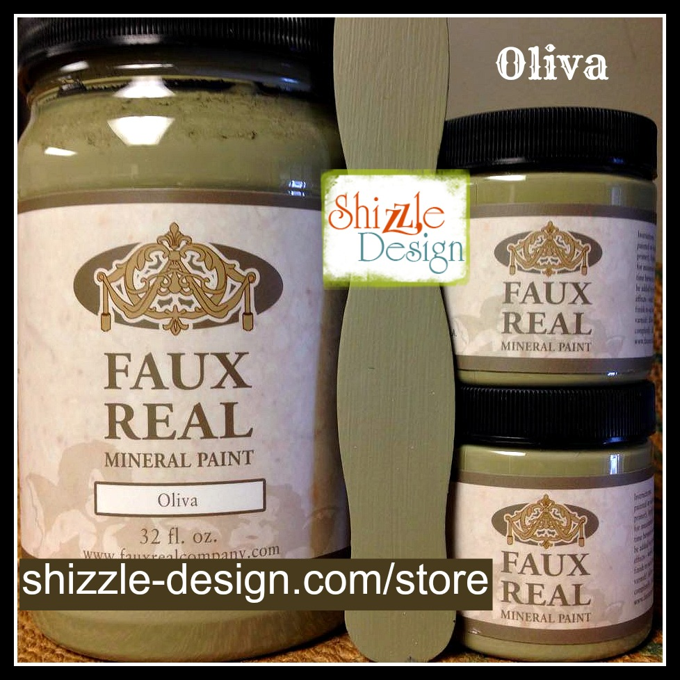 Oliva - Faux Real Mineral durable Paint Shizzle Design Michigan retailer pretty rich olive green best chalk paint colors