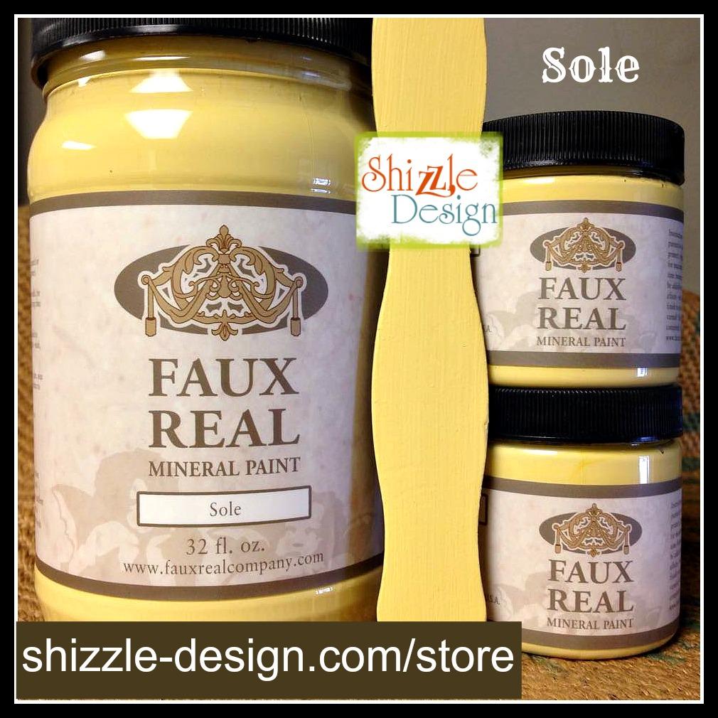Sole - Faux Real Mineral Paint Shizzle Design Michigan retailer butter yellow chalk paint