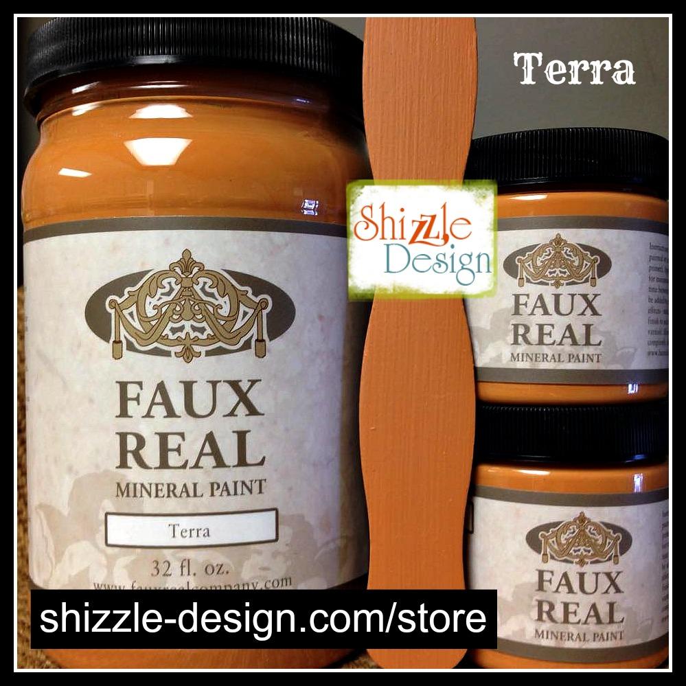 Terra - Faux Real Mineral durable Paint Shizzle Design Michigan retailer pretty warm peach subtle orange best chalk paint colors