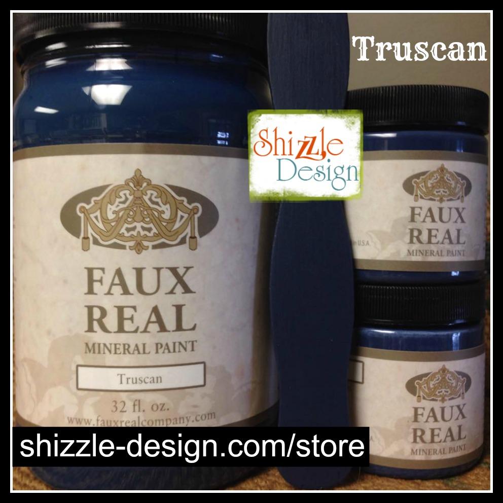 Truscan - Faux Real Mineral Paint Shizzle Design Michigan retailer navy blue indigo chalk paint