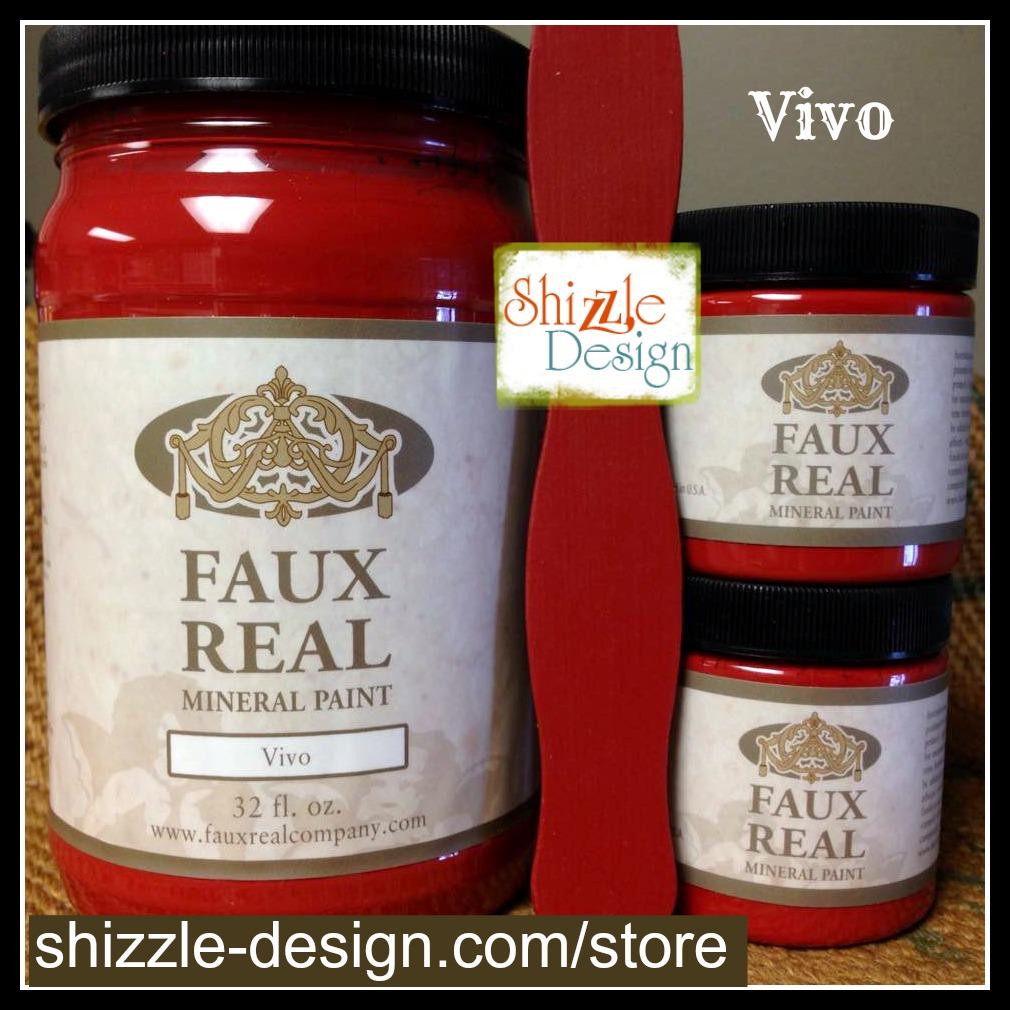 Vivo - Faux Real Mineral Paint Shizzle Design Michigan retailer Vivo red chalk paint