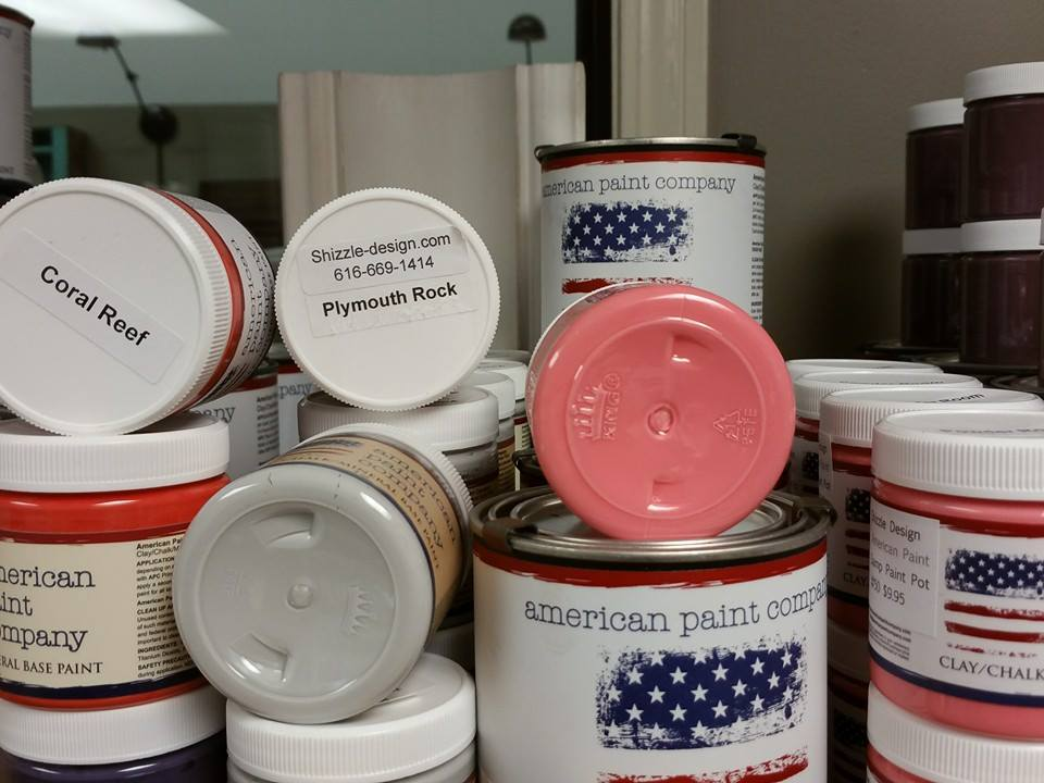 American Paint Company Retired Chalk Clay Paint Sale Clearance Michigan Retailer Shizzle Design www.shizzle-design.com 2018 Chicago Drive Jenison MI 49428 Coral Reef