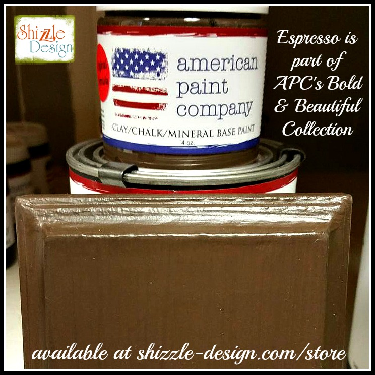 Bold Beautiful Collection by American Paint Company Chalk Clay Paint Shizzle Design retailer Grand Rapids Michigan - Espresso, brown
