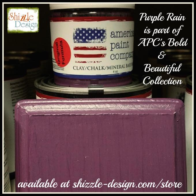 Bold Beautiful Collection by American Paint Company Chalk Clay Paint Shizzle Design retailer Grand Rapids Michigan - Purple rain, plum