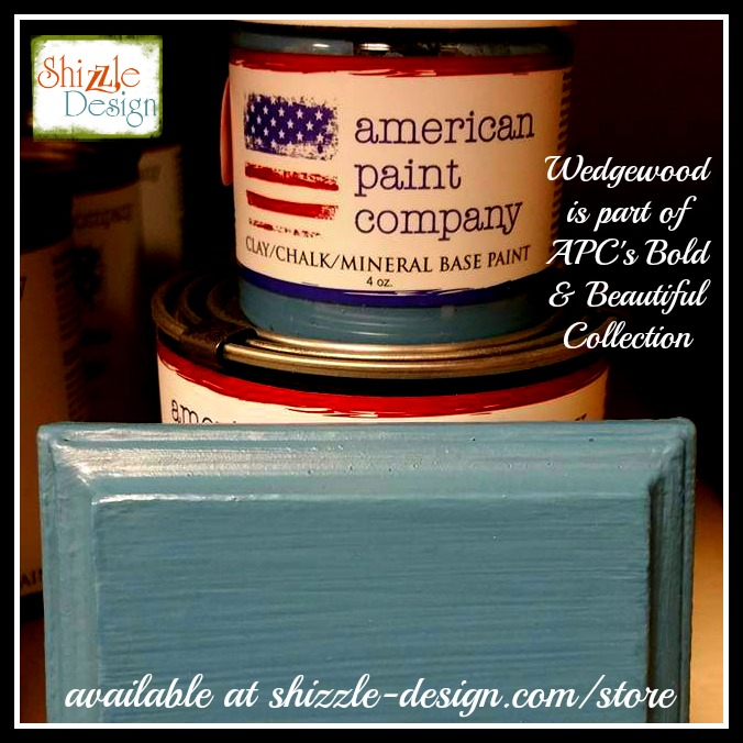 Bold Beautiful Collection by American Paint Company Chalk Clay Paint Shizzle Design retailer Grand Rapids Michigan - Wedgewood blue