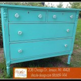 Junk Gypsy™ Wanderlust blue chalk painted dresser Shizzle Design Grand Rapids Michigan 49428 retailer supplies