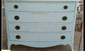 Bow Front Dresser refinished w Shabby Chic® Chalk & Clay Paint by Rachel Ashwell