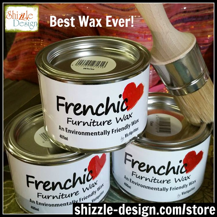 Frenchic Furniture Wax - Clear, Rustic, White - Best furniture wax, easy to use, non toxic, buy, Shizzle Design Distributor for the U.S. Jenison Michigan