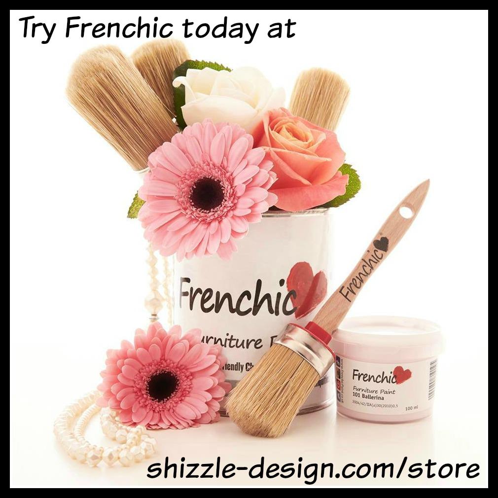 Frenchic Logo - blank - pink flowers shizzle design distributor U.S. Jenison, MI order online try buy furniture chalk paint