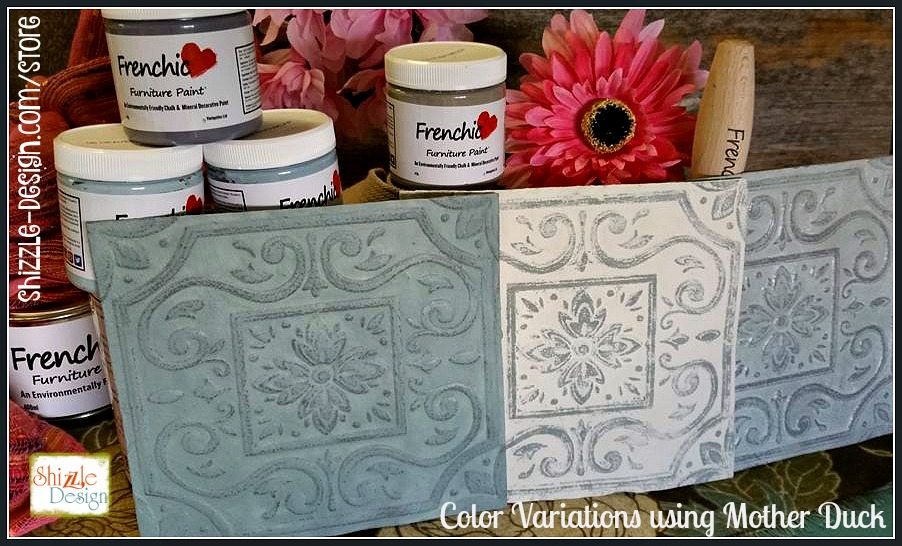 Frenchic Furniture Paint - Mother Duck - medium blue gray similar to Duck Egg Blue chalk mineral furniture paint color variations