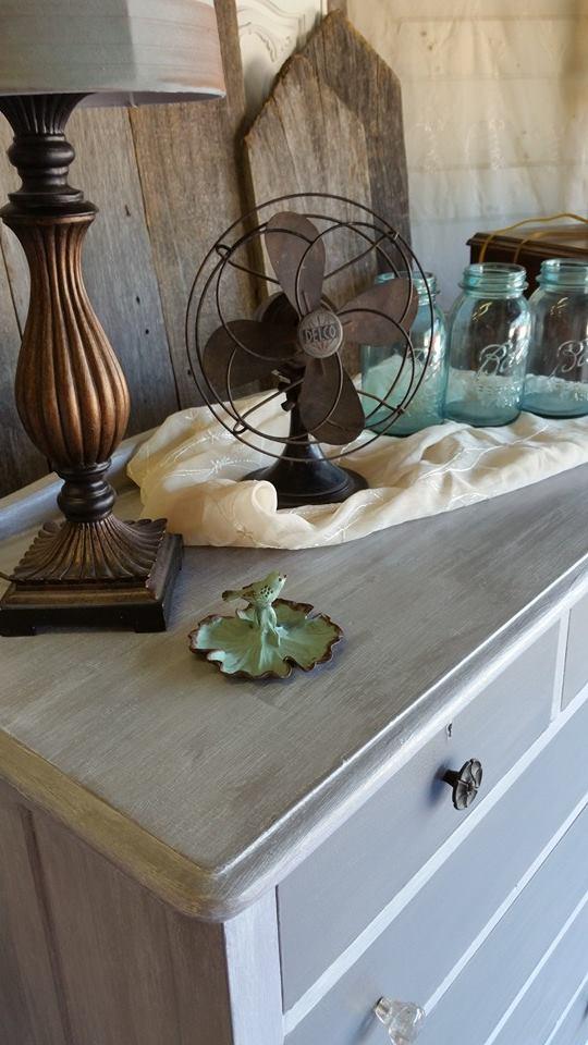 Frenchic Furniture Paint - 1 Grey Pebble - warm medium gray - chalk paint - shizzle design - michigan - USA - where to buy - painted furniture - highboy - dresser 3