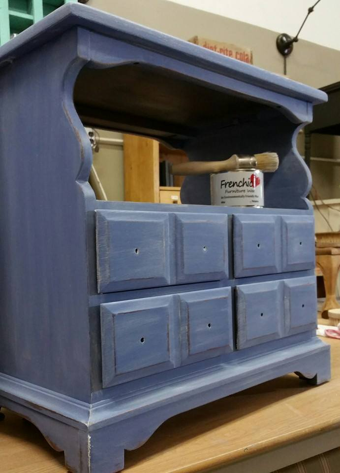 Frenchic Furniture Paint - 1 Pool Boy - lavender blue white wax - shizzle design - michigan - USA - where to buy - nightstands