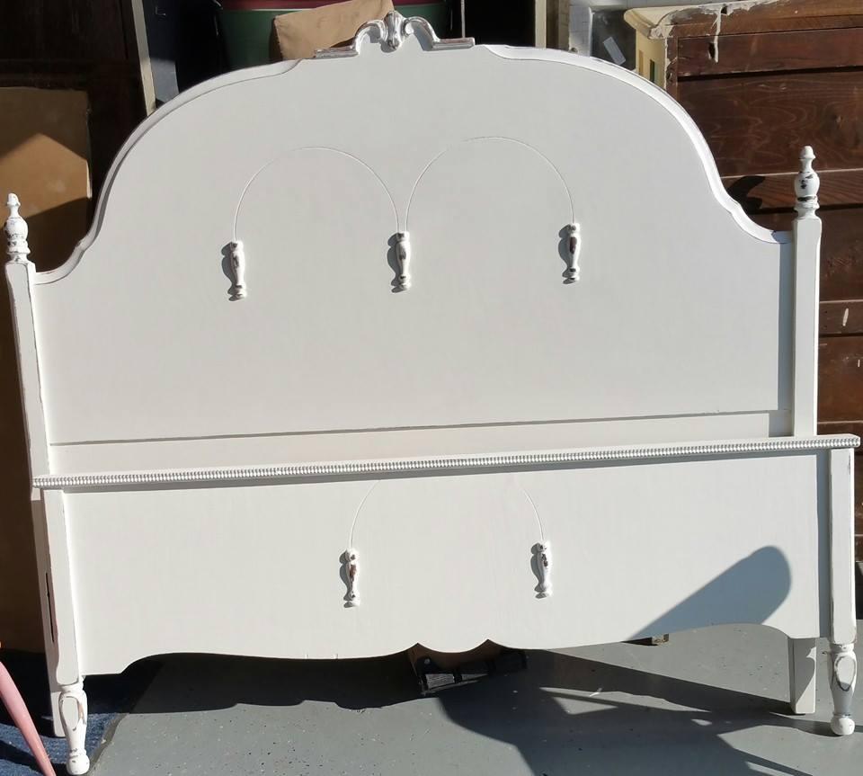Frenchic Furniture Paint - 1 Wedding Cake, White, antique bed, painted furniture, shizzle design, michigan, chalk paint, retailer, where to buy 4