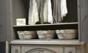 Beautiful French Country Wardrobe painted with Frenchic Furniture Paint