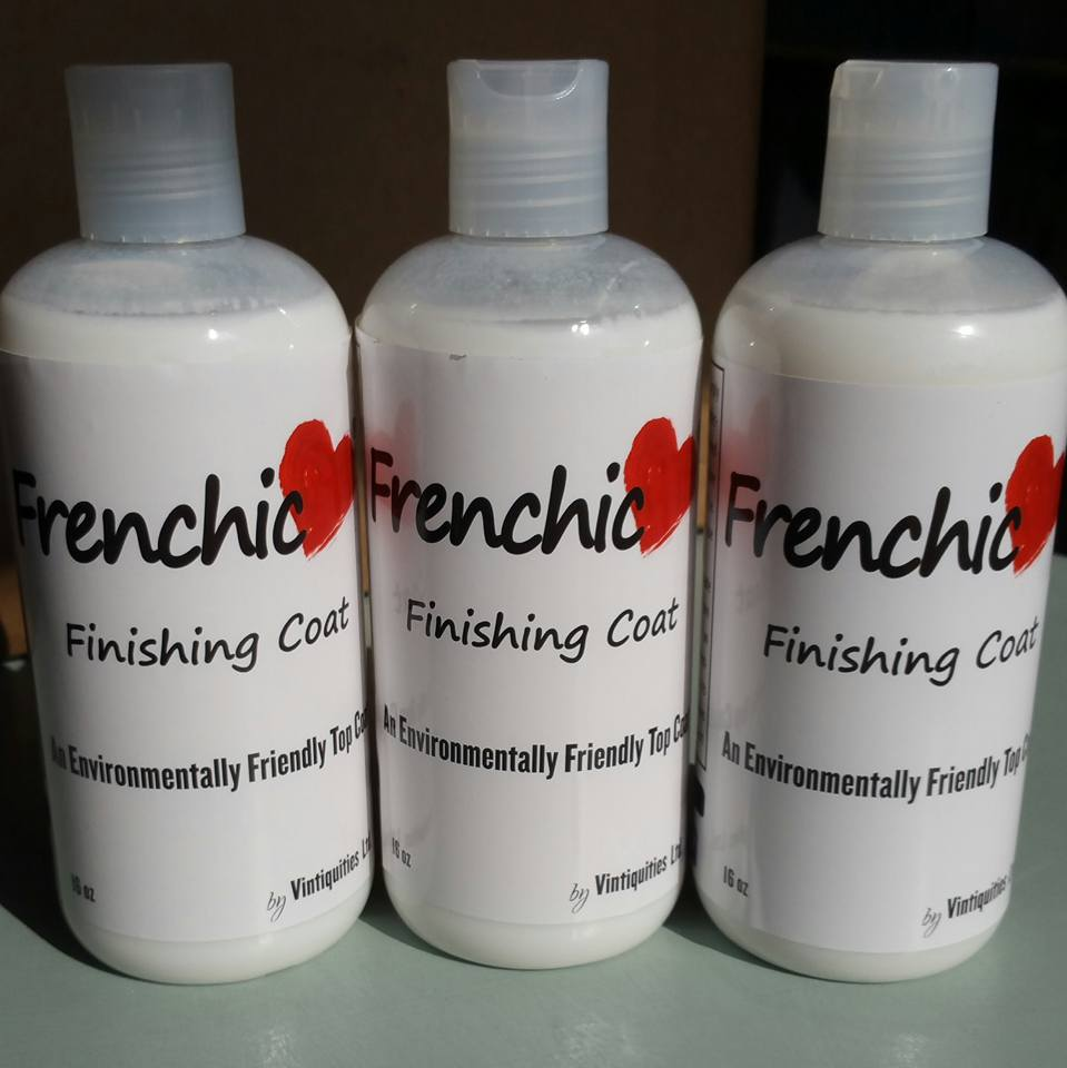 Frenchic - Finishing Coat - Shizzle Design - chalk painted furniture - durable - easy to use - where to buy - US