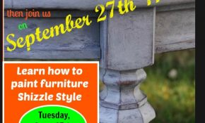 Update to the Bring-a-Friend-Special – Furniture Painting Class – Tuesday, Sept. 27 11:00 a.m. – 4:00 p.m.